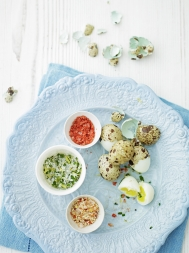 Dipping salts for boiled quail eggs
