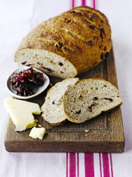 Cranberry, walnut & rosemary bread