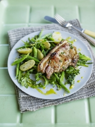 Lemon & thyme griddled pork chops