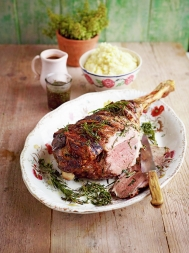 Leg of lamb with amazing gravy
