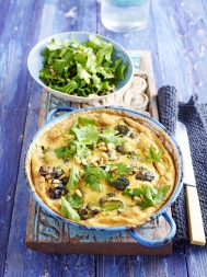Stilton & sprouting broccoli frittata