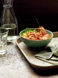 Spicy prawn curry with quick pilau rice