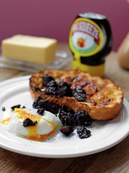 Black pudding, poached egg and soldiers