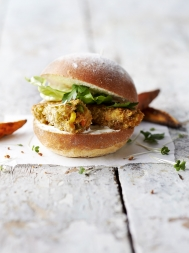 Veggie 'fish finger' sandwiches