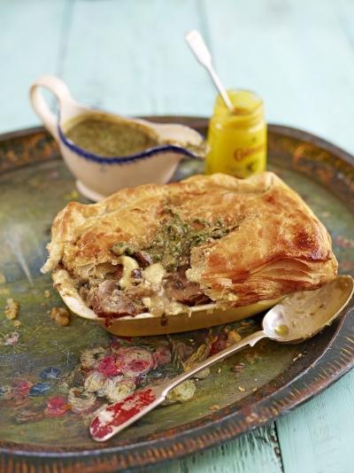 Mushroom & Tunworth cheese pies