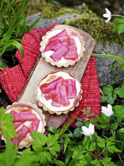 Rhubarb tartlets
