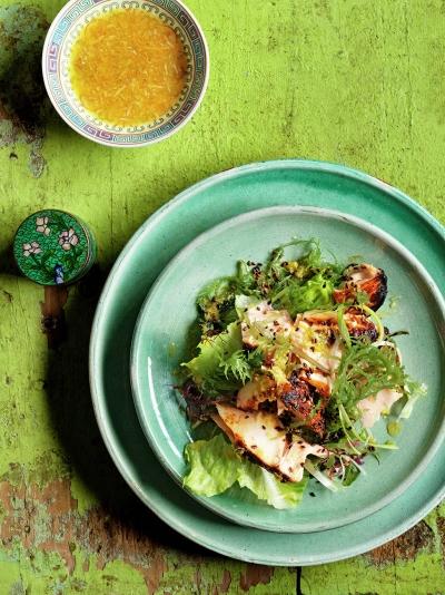 Japanese grilled salmon & seaweed salad