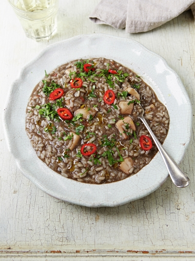 Croatian-style cuttlefish risotto