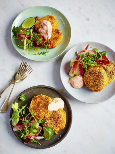 Mexican-style fish cakes