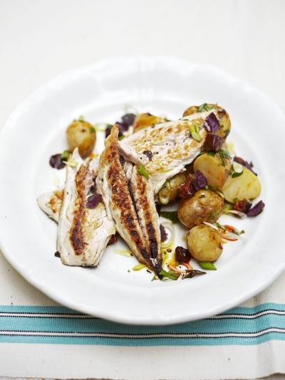 Warm mackerel & potato salad