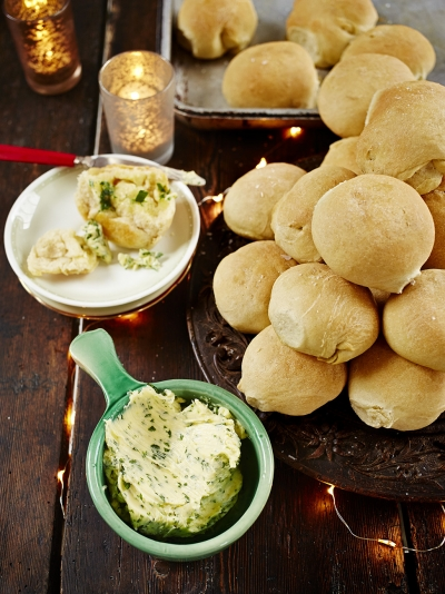 Mega dough balls with garlic butter