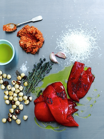 Charred pepper pesto