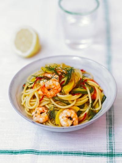 Prawn & courgette spaghetti