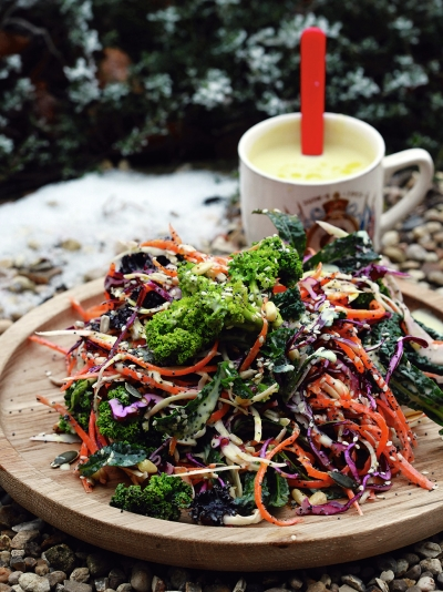 Delicious winter salad
