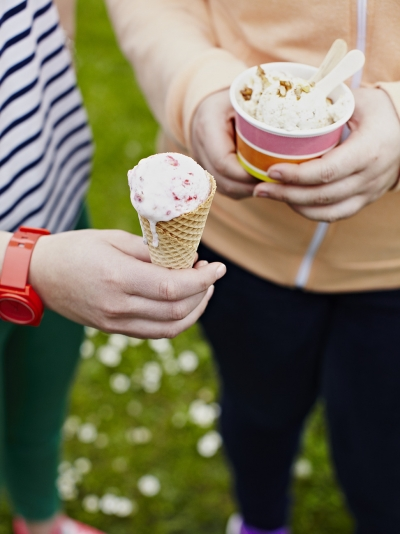Raspberry, agave & vanilla frozen yoghurt