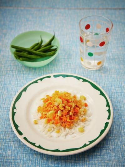 Helen's red lentil & cauliflower smash with rice